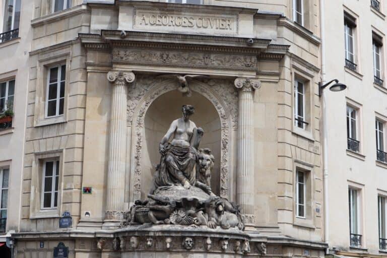 ג'ורג' קובייה, מזרקת ג'ורג' קובייה פריז: מחווה למדען דגול
